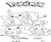 pikachu 179 dessin à colorier