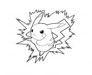 pikachu dessin à colorier