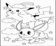 pikachu 164 dessin à colorier