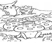 pikachu 184 dessin à colorier