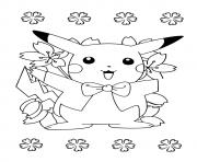 pikachu 246 dessin à colorier
