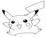 Coloriage pikachu facile 2