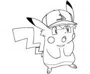 pikachu swag casquette dessin à colorier