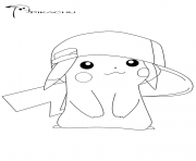 pikachu 18 dessin à colorier