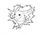 pikachu 2 dessin à colorier