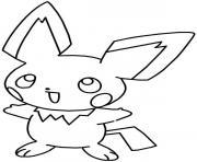 pikachu 40 dessin à colorier