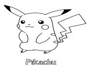 Coloriage pikachu 300 dessin