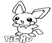 pikachu pichu dessin à colorier