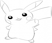 Coloriage pikachu pokemon 2