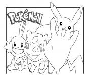 pikachu 16 dessin à colorier
