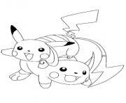 pikachu 163 dessin à colorier
