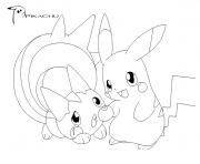 pikachu 281 dessin à colorier