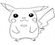 pikachu 83 dessin à colorier