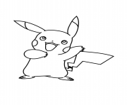 Coloriage pikachu pokemon xy