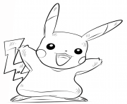 Coloriage pikachu pokemon