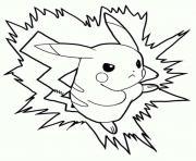pikachu 144 dessin à colorier