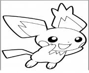 pikachu pichu 2 dessin à colorier