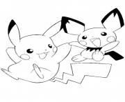 Coloriage pikachu s printable9861