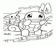 pikachu 173 dessin à colorier