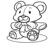 facile ours en peluche dessin à colorier