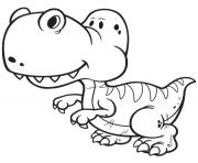 dinosaure facile gentil dessin à colorier
