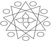 mandala facile 78 dessin à colorier