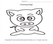 cochon mignon facile 11 dessin à colorier