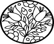 mandala fleur facile 90 dessin à colorier