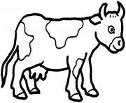 vache facile 80 dessin à colorier