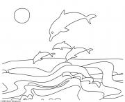 Coloriage dauphins facile 131