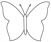 papillon facile 106 dessin à colorier