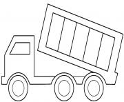 camion facile 64 dessin à colorier