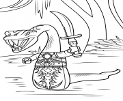 Coloriage lego ninjago serpent pythor