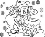 Coloriage Disney noel color
