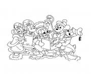 Coloriage mickey mouse disney noel 4 dessin