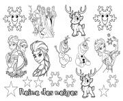 Coloriage disney noel reine des neiges 2 dessin