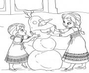 Coloriage disney noel reine des neiges