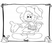 Coloriage mickey disney noel 19