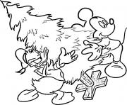 Coloriage walt disney noel cartoon