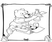 Coloriage mickey mouse disney noel 6 dessin