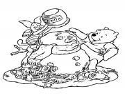 winnie the pooh disney noel 12 dessin à colorier