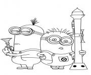 Coloriage minion de moi moche et mechant 26