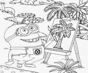 minion de moi moche et mechant peinture dessin à colorier