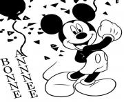 disney nouvel an 30 dessin à colorier