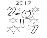 2017 bonne annee nouvel an dessin à colorier