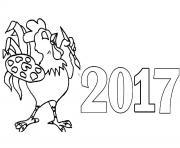 2017 bonne annee dessin à colorier