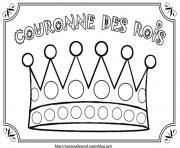 Coloriage galette enfant couronne rois - Image roule galette imprimer ...