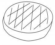 galette des rois 4 dessin à colorier