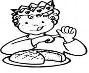 galette enfant couronne rois dessin à colorier