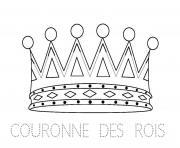 couronne des rois maternelle dessin à colorier